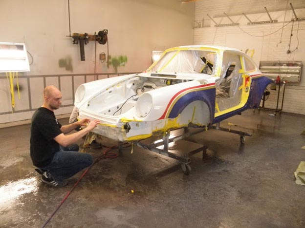 Priming the Car with a Spray Gun