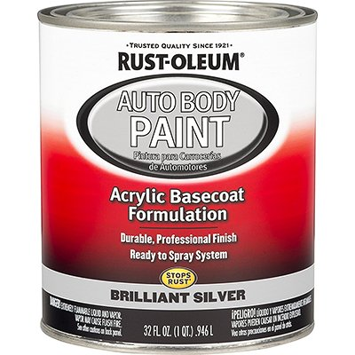 Rust-Oleum 275234 Brilliant Silver Automotive Auto Body Paint