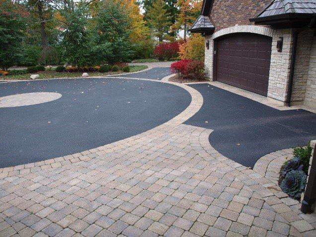 oil stains concrete pavers